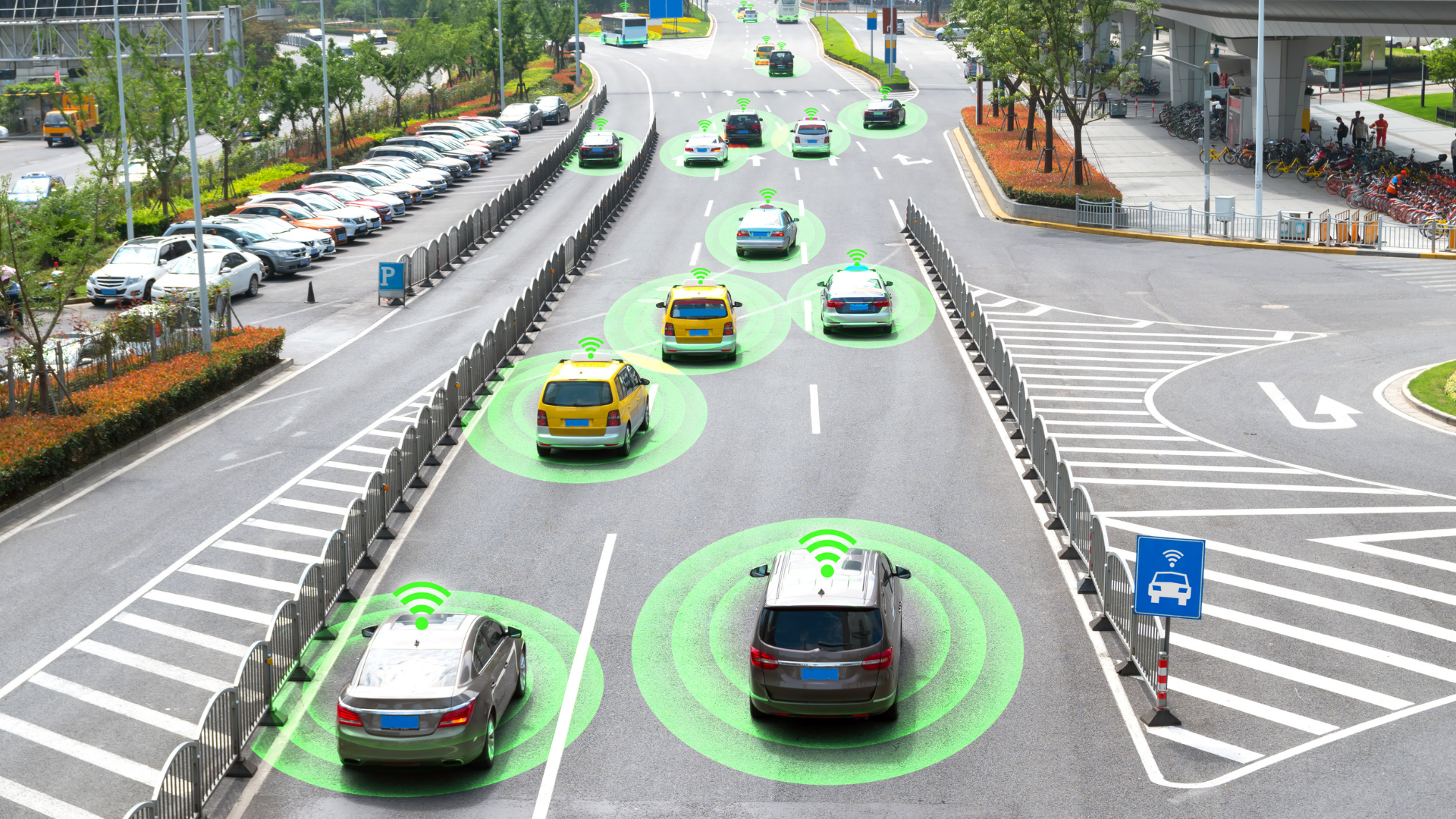 self-driving cars with 5G